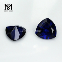 trillion cut synthetic stones dark blue spinel, blue spinel gem