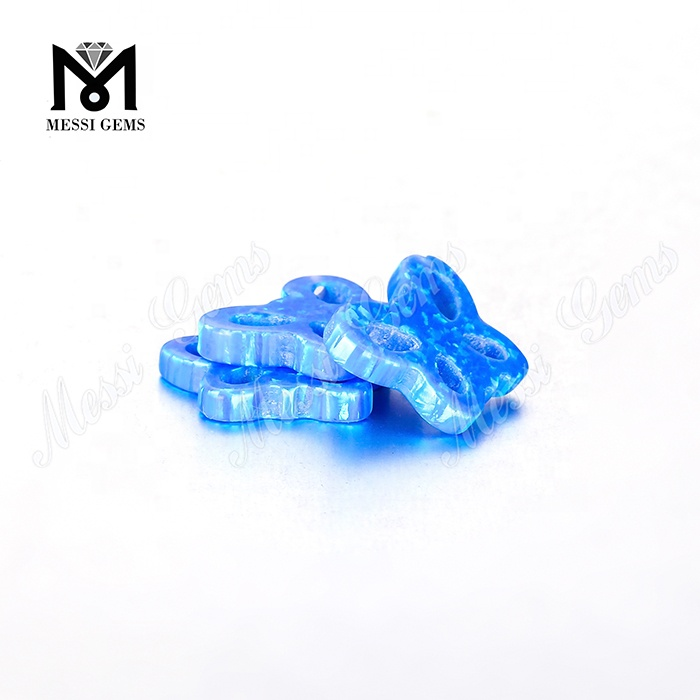 High Quality Butterfly Shape 11 x 15 x 2.5 mm Blue Synthetic Opal Stone