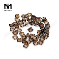 AAA Princess Cut Loose Natural Smoky Quartz Cheap Gemstones