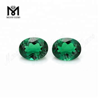 Oval 9x7mm loose lab created zambia emerald