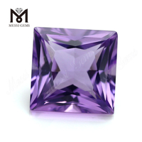 Wholesale Price Square Shape Hydrothermal Loose Amethyst Gemstones