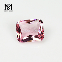 Octagon cut 10x12mm red color glass gems stone