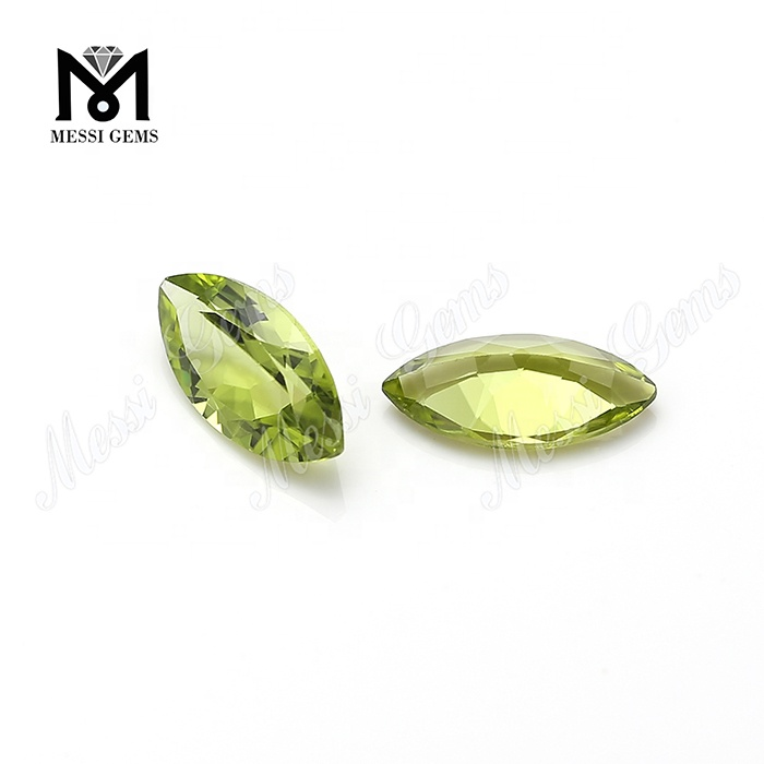 wholesale fancy cut natural peridot topaz stone price per carat