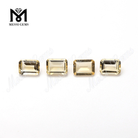 6x8mm emerald cut citrine natural gemstones loose quartz stones