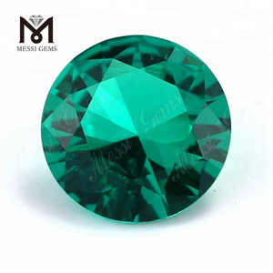 Hydrothermal colombian round emeralds gemstones from Russia