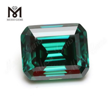 Emerald cut Green Moissanite Lab created Loose gemstones Octagon