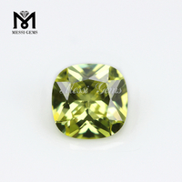 machine cut peridot glass gemstone synthetic cheap price glass stone