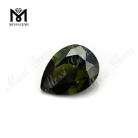 Loose wuzhou wholesale olive 5x7mm pear cut synthetic cubic zirconia