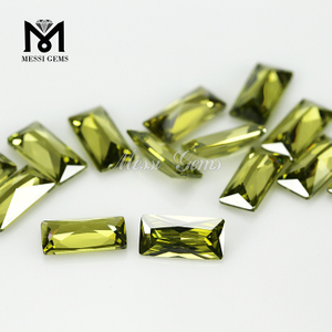 Factory Price CZ Gemstone 5x10mm Baguette Cut Cubic Zirconia