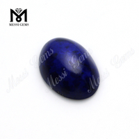 wholesale Oval 13x18mm blue color loose jade stone