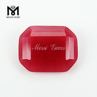 Top Quality Loose Gemstone Octagon 20*25mm Big Size Red Jade Natural Stone