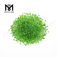 hot sale 2.0mm round cut clean small loose chrome diopside stones