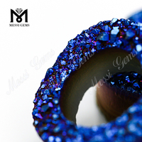 Loose Gemstone Agate Druzy Beads 10mm Blue Druzy Stone