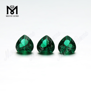 Wholesale created emerald heart shape emerald price per carat