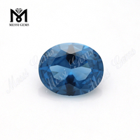AAA quality #120 oval faceted blue stones loose spinel gems for sale