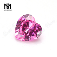 Wholesale Gemstone 5mm Heart Shape Cut Cubic Zirconia Stone Price