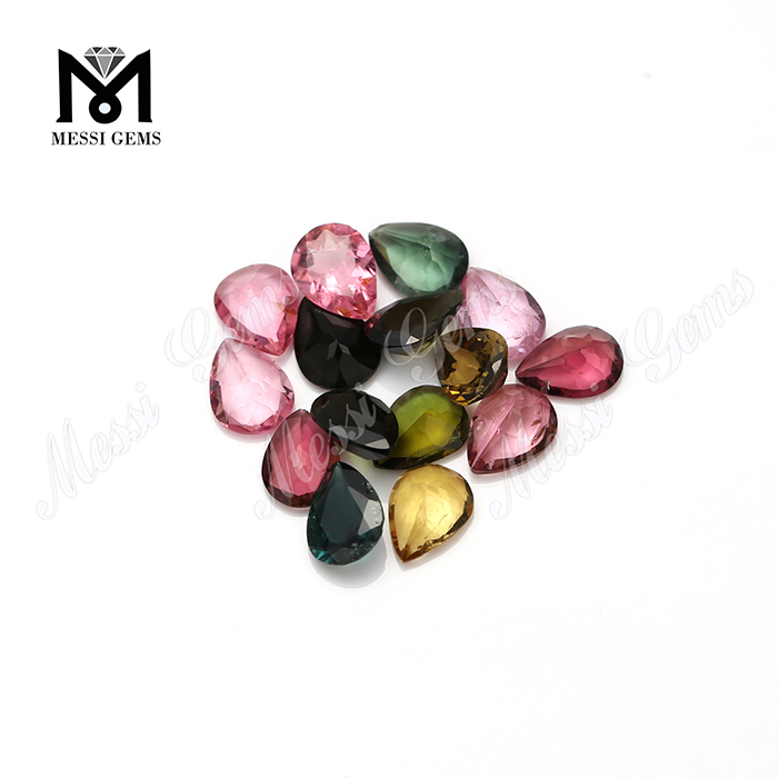 Wholesale natural gemstone high quality faceted tourmaline