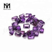 Loose Octagon Shape 4*6mm Natural Amethyst Stones