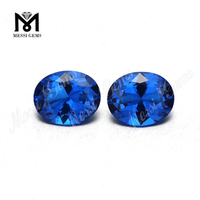 8*10 oval shape sapphire synthetic loose gemstone nano gems