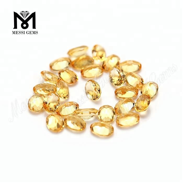 Wholesale Natural Citrine Oval Shape 5*7mm Natural Stone Price