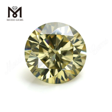 Factory price wholesale 5mm brilliant yellow gemstone moissanite for ring