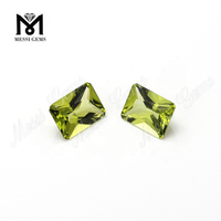 wholesale loose natural octagon 6x8mm peridot gemstone