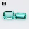 Loose stones 6*8mm Emerald cut glass stone for copper alloy silver jewelry