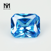 10 x 12 mm emerald cut aquamaria cubic zirconia stones