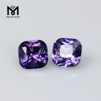 Top Quality CZ Gemstone Cushion Amethyst Cubic Zirconia Stone