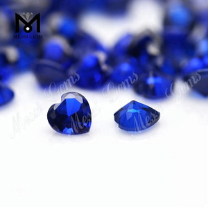 6x6mm heart cut synthetic 112# blue sapphire spinel stone