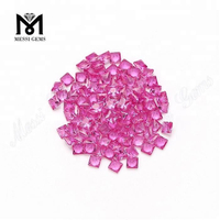 Synthetic Ruby Square Shape 2# Ruby Corundum Stone