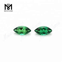 4x8 Marquise Shape Created Emerald Loose Gemstone Hydrothermal Emerald