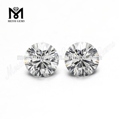 China GH color Round 6.5 mm 1 carat GH color Synthetic Moissanite stone