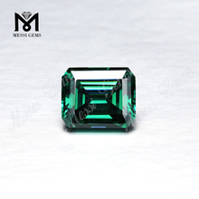 Green Moissanite Factory price Loose gemstones Octagon Emerald cut