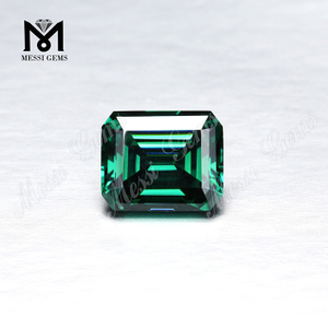 Green moissanite diamond Factory price Loose gemstones Octagon Emerald cut