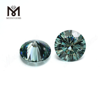 Wholesale price synthetic brilliant cut dark color green moissanite