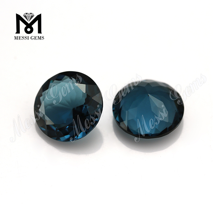 blue emerald faceted glass stones for jewelry