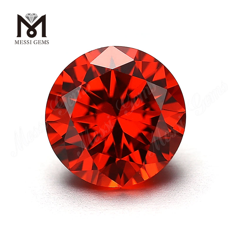 Synthetic 1.75mm Round Orange CZ Gemstone Loose Cubic Zirconia Stone