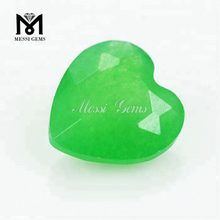 Factory Wholesale Heart Shape 12*12mm Natural Green Jade Stone