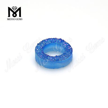 blue drusy stones geode druzy natual stones for jewelry making