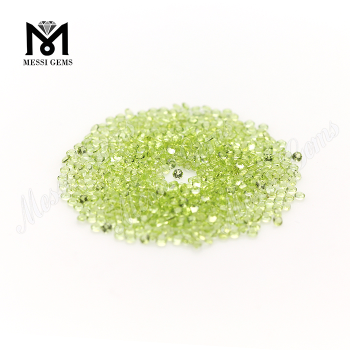 2.0mm round gemstones natural peridot in wholesale price