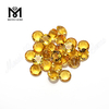 Wholesale Price hydrothermal Quartz Loose 6.0mm Round Yellow Synthetic Citrine