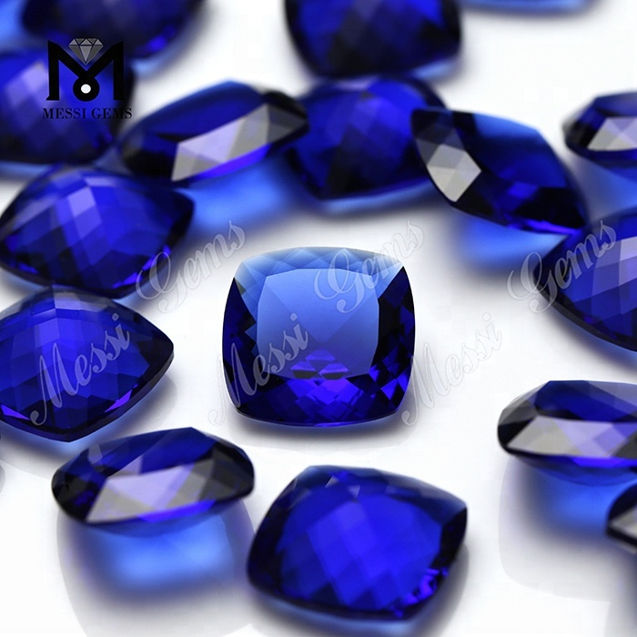 Factory price wholesale blue sapphire glass price