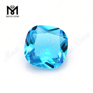 12*12 sky topaz cushion shape gemstone loose stone glass