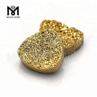 wholesale trillion cut gold natural druzy agate gemstone