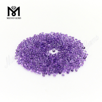 Wholesale stone price 1.5mm round amethyst loose gemstone