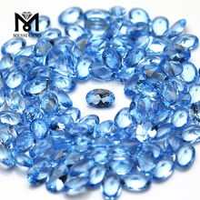 wholesale oval 4*6mm sky blue nano loose gemstone