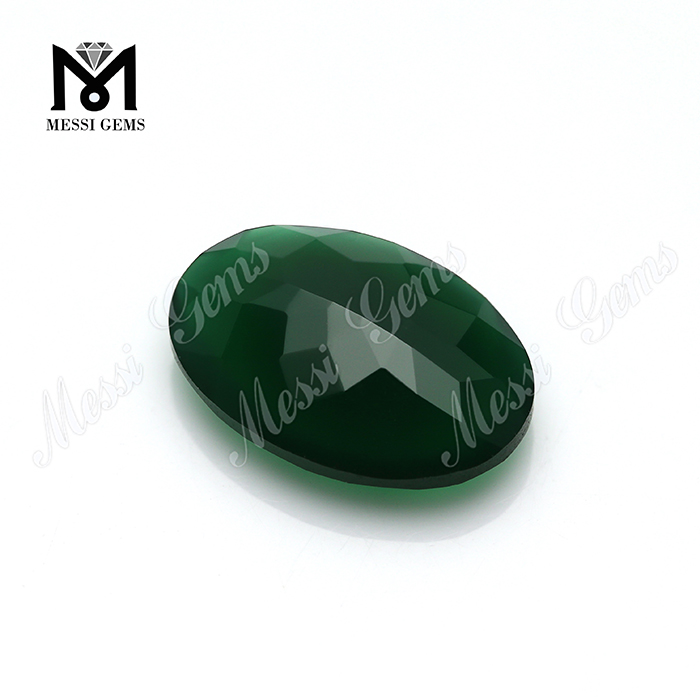Top Quality Oval 13x18MM Green Agate Stone Wholesale Natural Agate