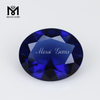 112 # 10x12 mm oval cut synthetic blue spinel