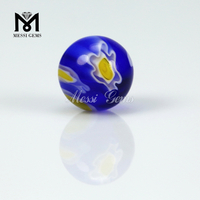 round cabochon flower glass stone millefiori glass